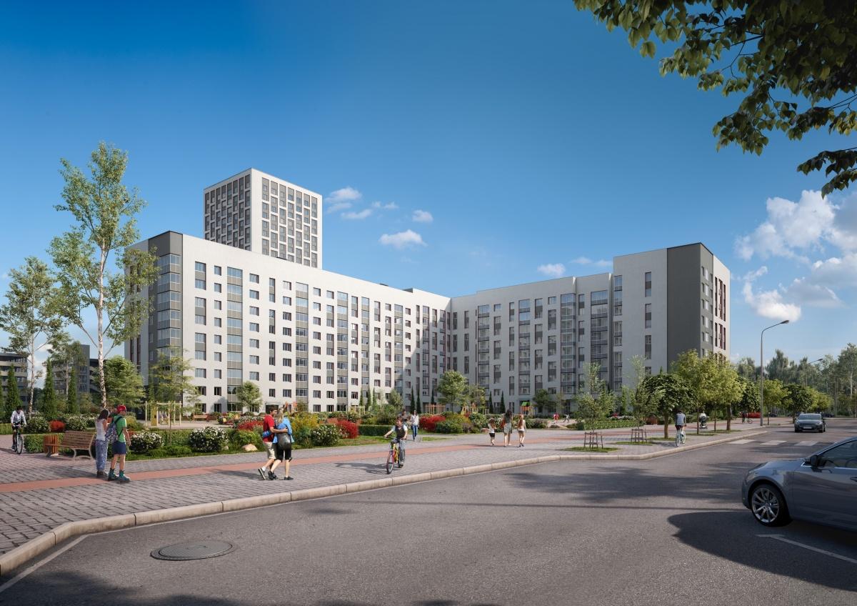 26.7: 9-этажный жилой дом расположен вблизи пр. Академика Сахарова и ул. Рябинина