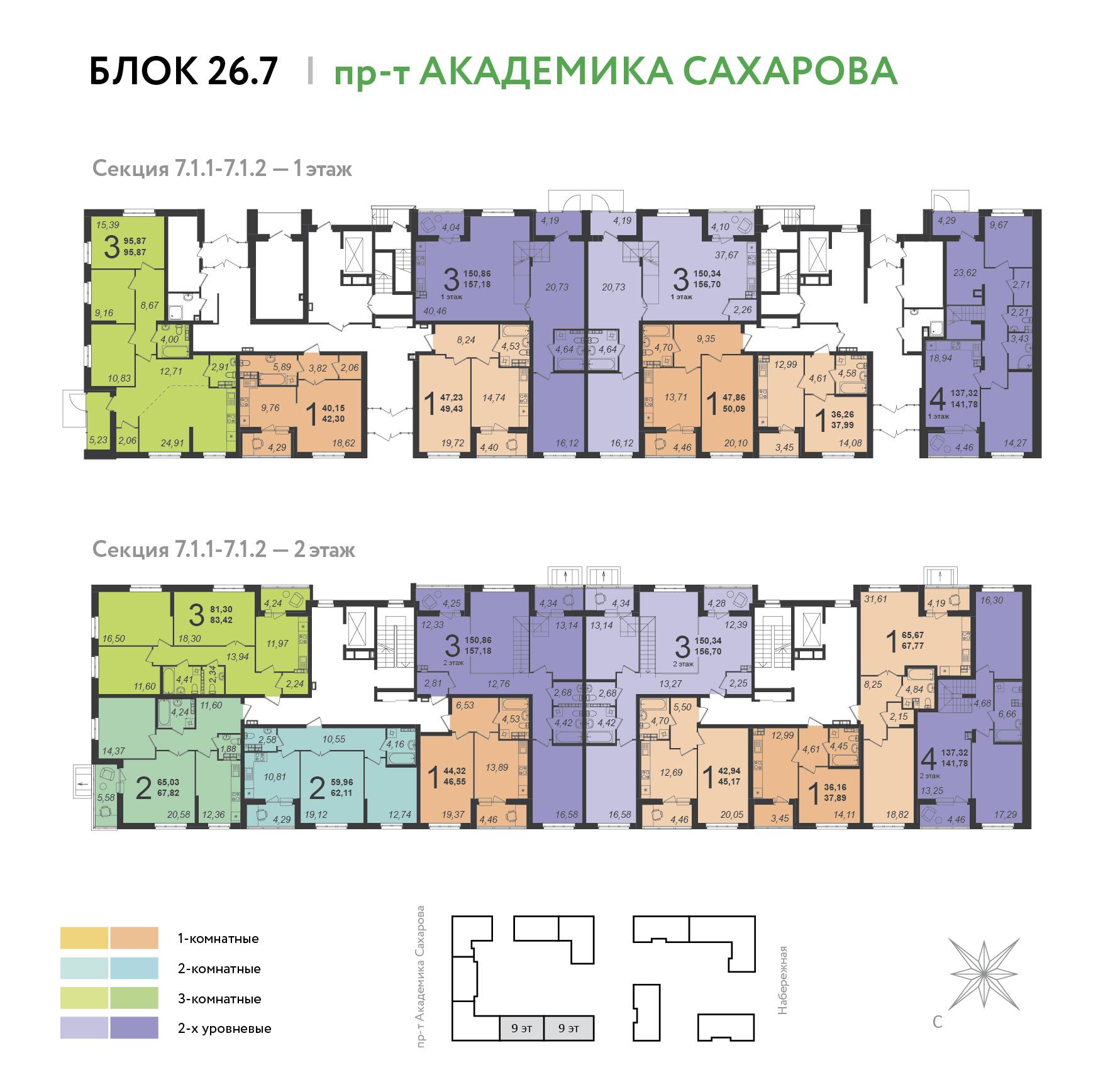 Функциональные планировки, правильные геометрические формы комнат для удобной расстановки мебели